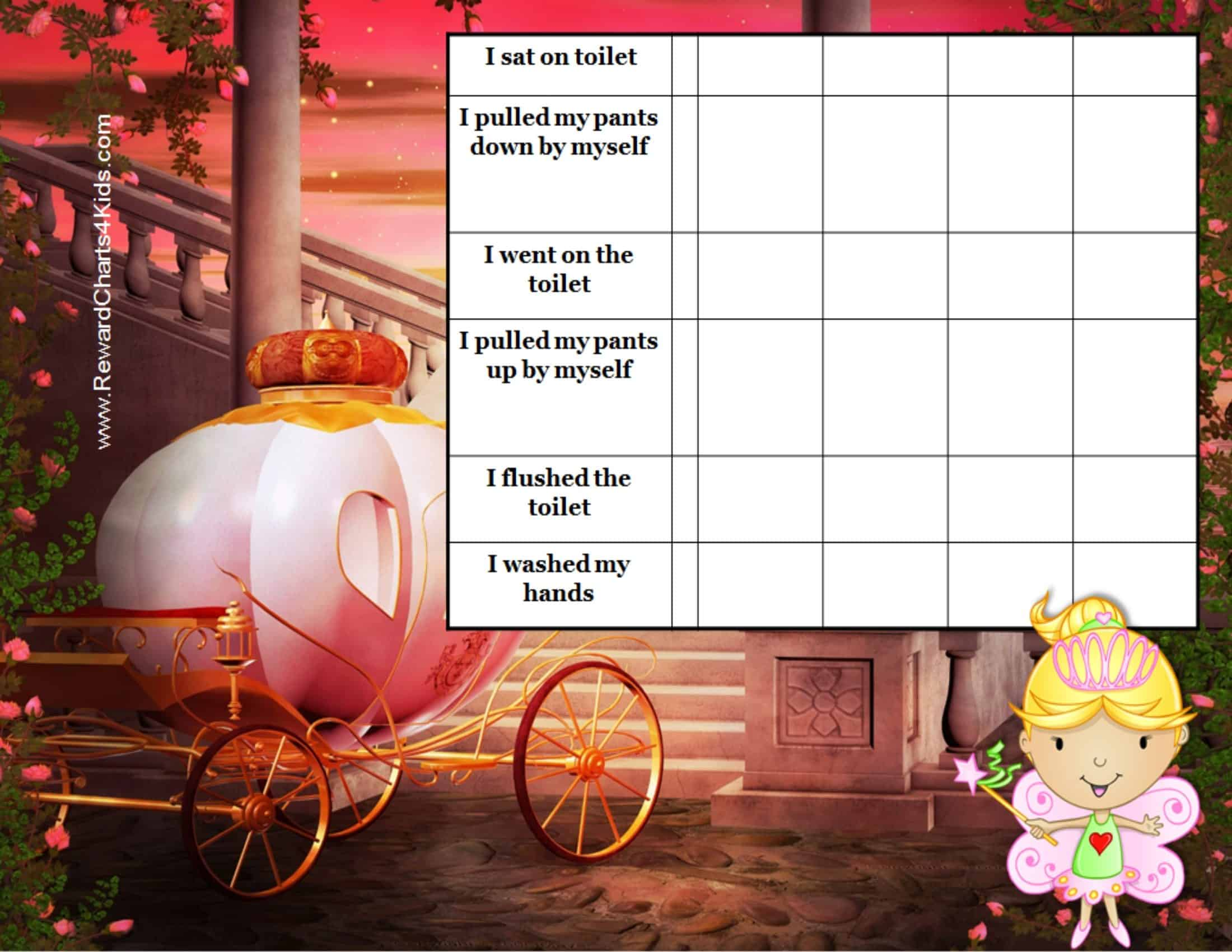 printable potty charts princess
