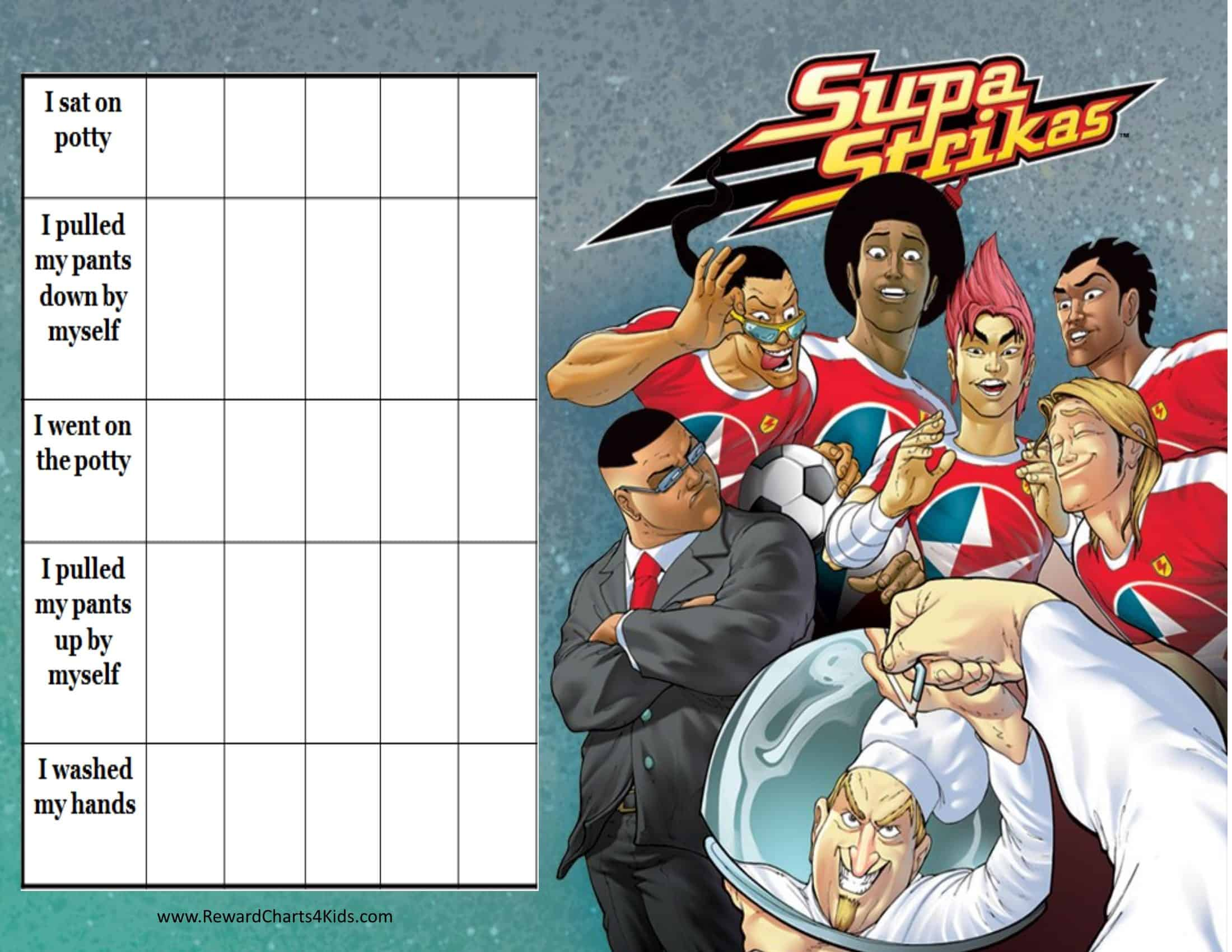 printable potty charts supa strikas