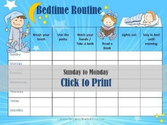nightime routine chart