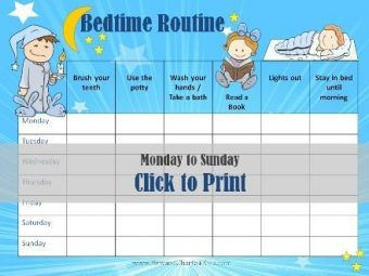 Bedtime routine chart