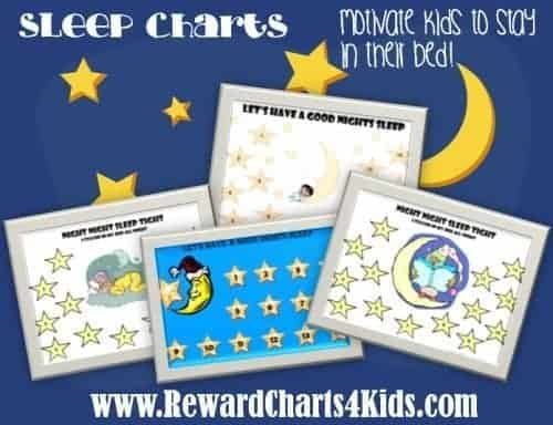 charts to help parents deal with their kids sleep issues