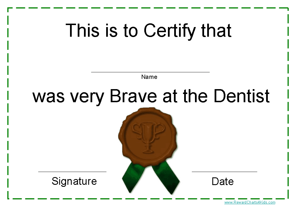Printable Certificates for Dentists