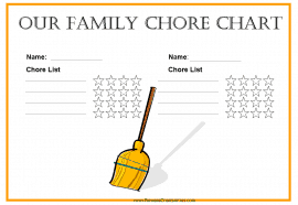 Family Chore Chart for 2 family members