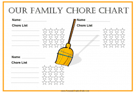 Family Chore Chart for 3 family members