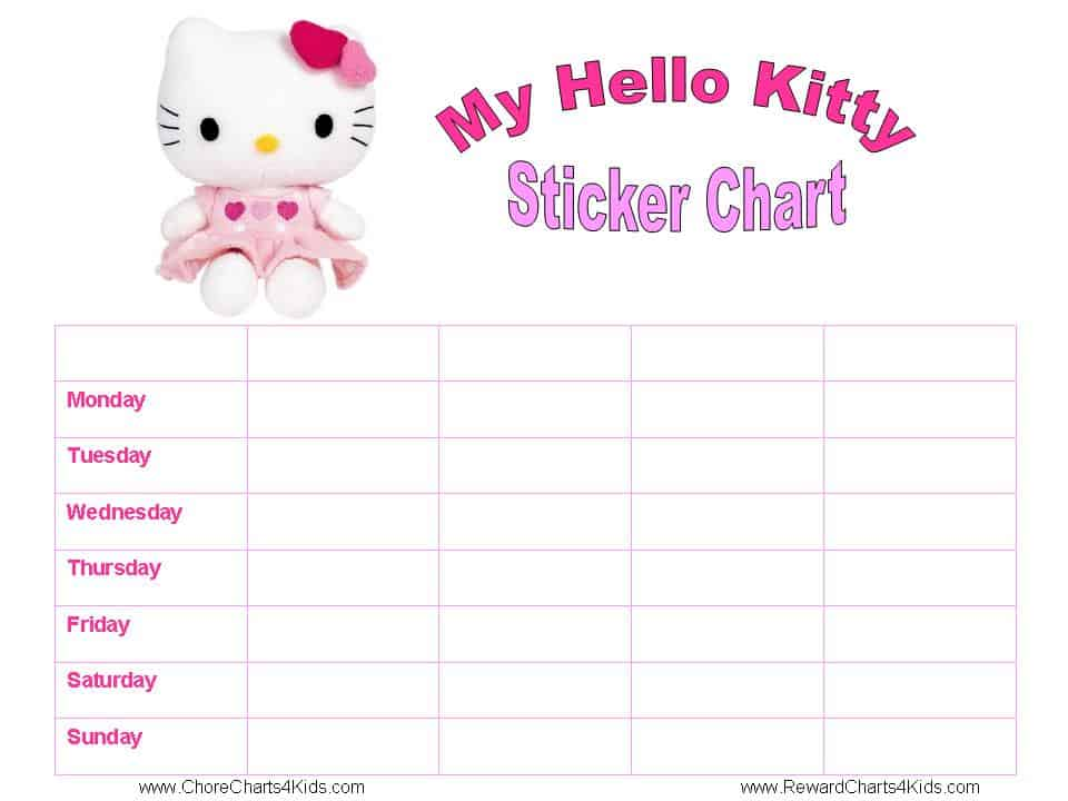 Hello Kitty Reward Charts