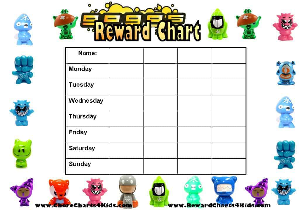 star chart for kids template - reward charts