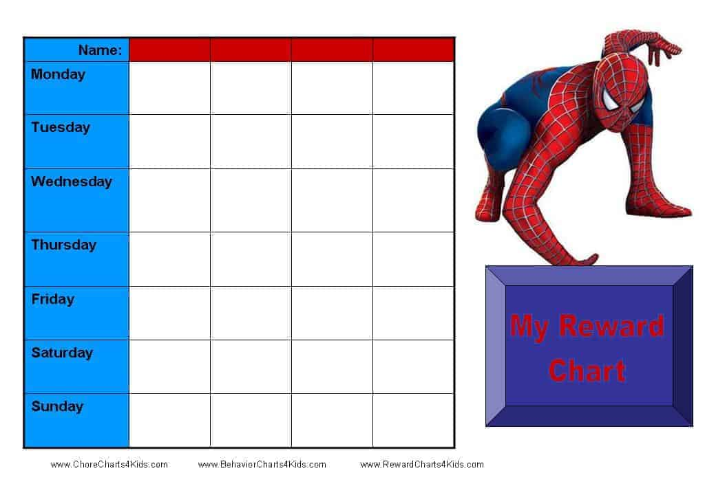 Reward Charts for Multiple Kids – Kids Behavior Chart Template