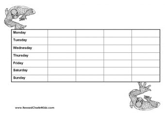 Printable Spiderman Behavior Chart