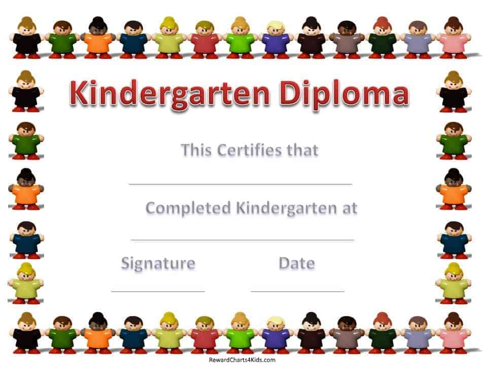 Pre kindergarten graduation certificate template yadclub Image collections