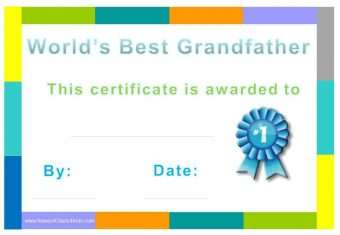 Best Grandfather Certificate
