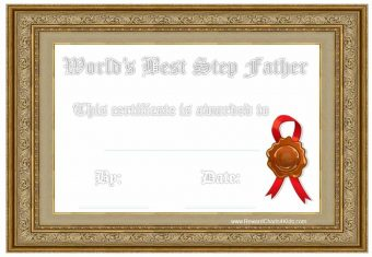 Best stepfather certificate