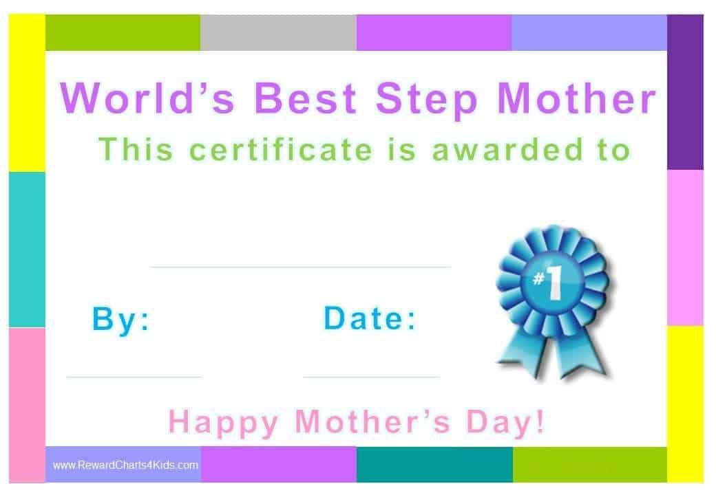 Award Certificates for Stepmother