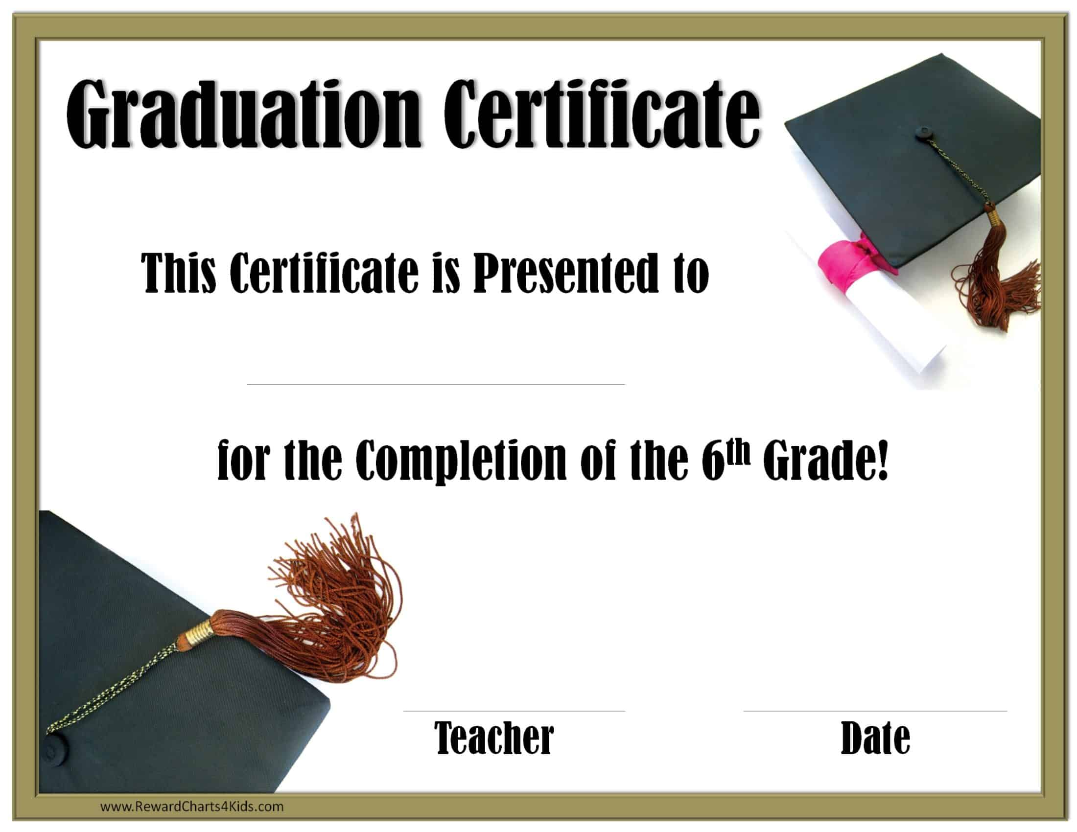 Graduation certificate templates 3112011 use free microsoft word templates to create good looking certificate of appreciation award certificates and other awards for any occasion yadclub Choice Image