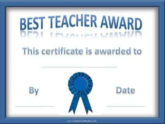 Teacher of the Year Award