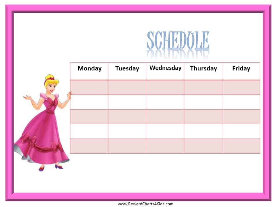 Doc22083140 Class Timetable Template Free Weekly Schedule – Class Timetable Template