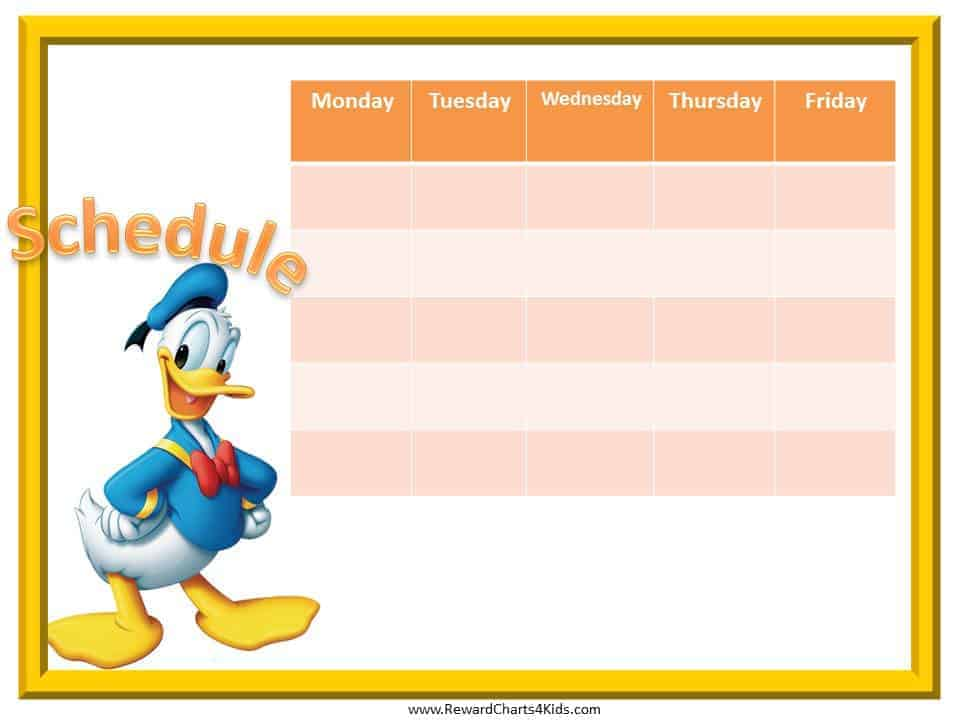 Weekly Schedule Template – Class Schedule Template