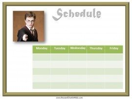 Free School schedule with harry potter