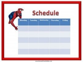 Free printable class schedule