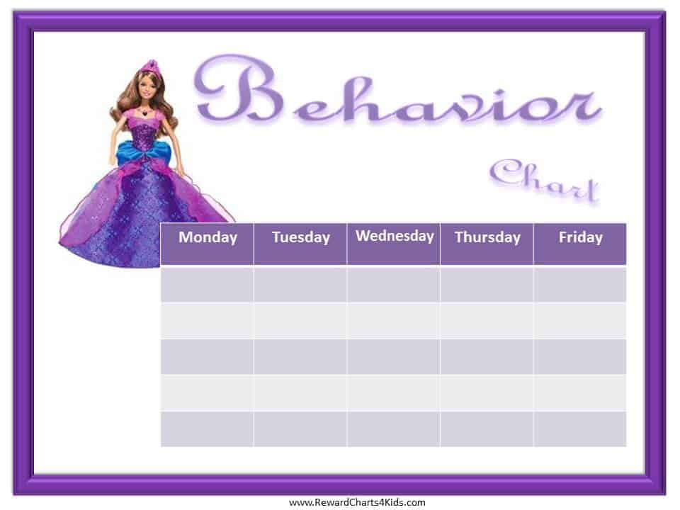 Princess Behavior Charts