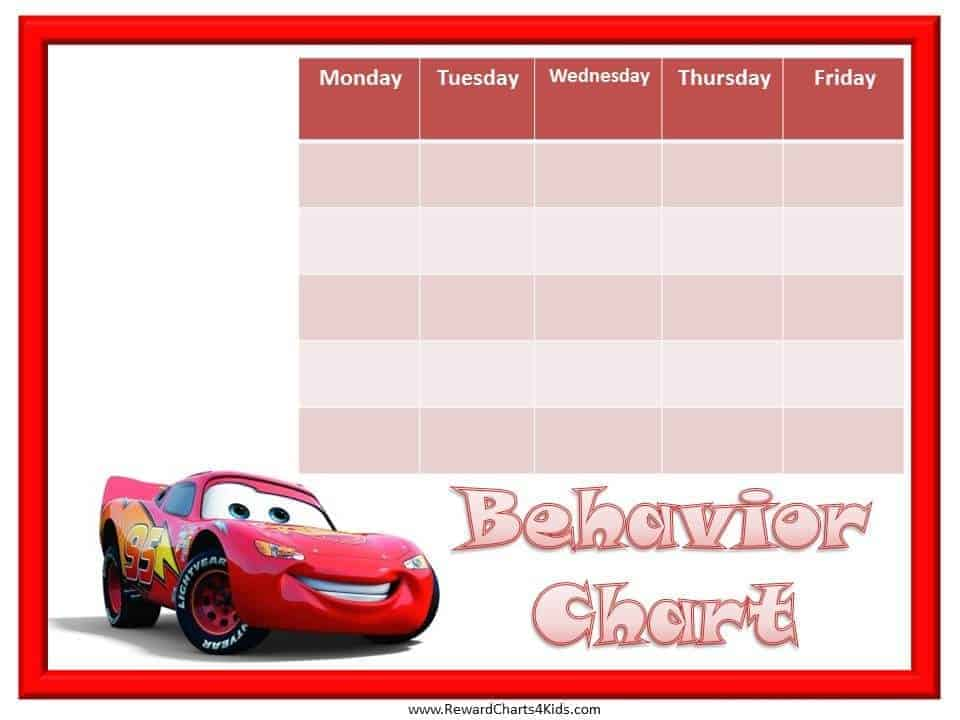 Behavior Charts with your Favorite Characters