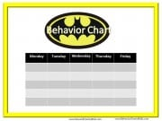 Printable Behavior Chart