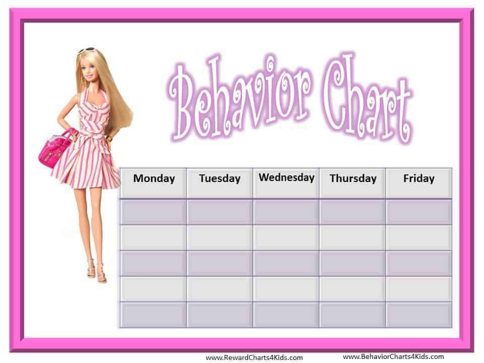 Free Princess Behavior Chart – Kids Behavior Chart Template