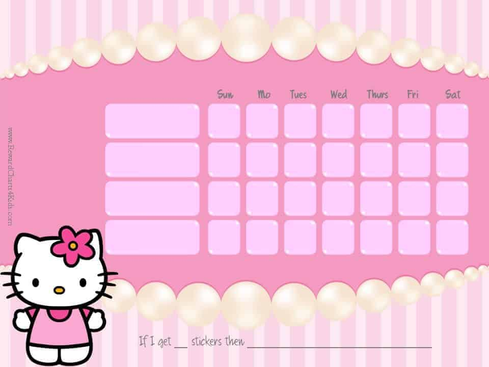 Hello Kitty Potty Training Chart | Car Interior Design