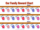 Reward Chart for 3 Kids