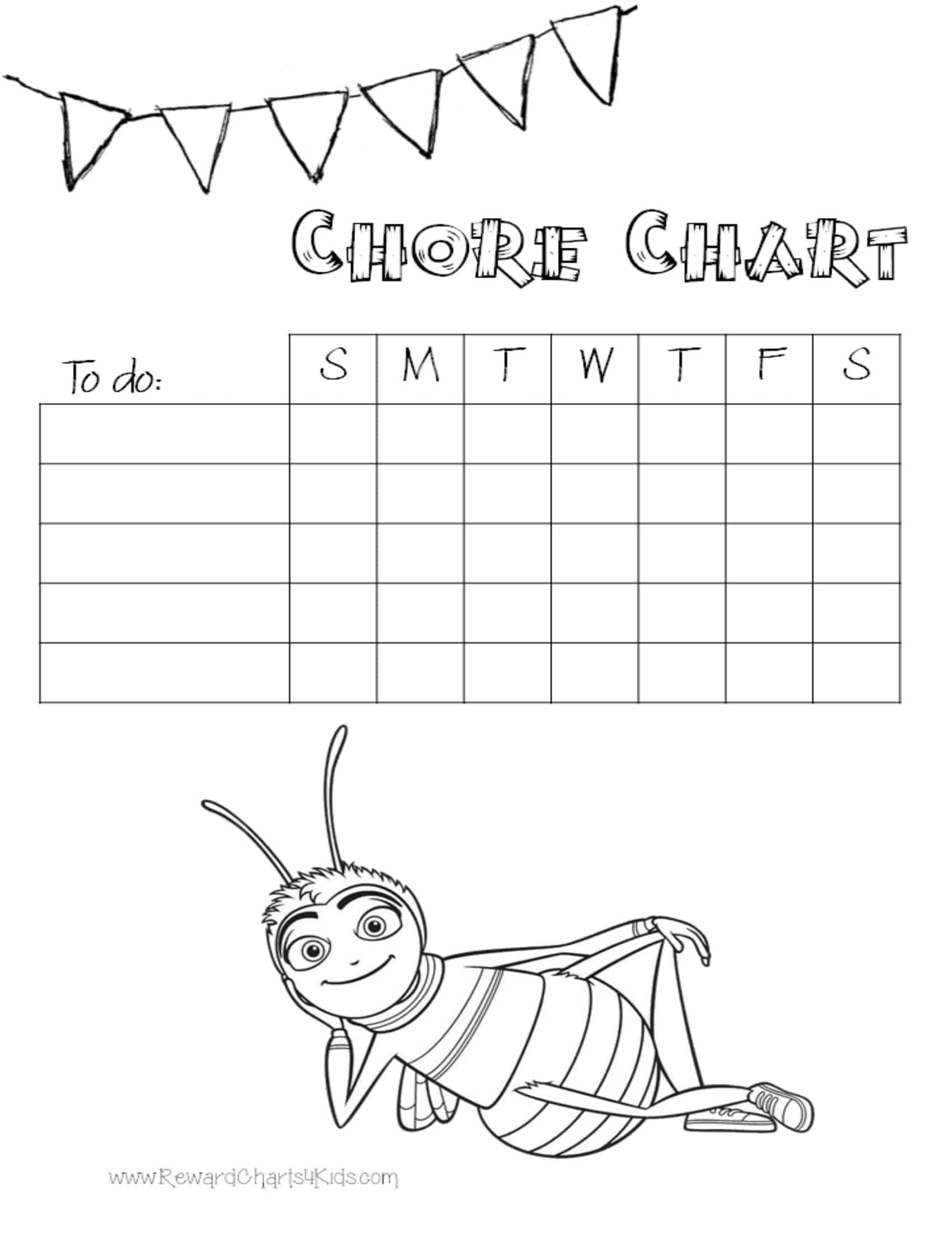 coloring pages kids chores by age | Chore Charts for Kids