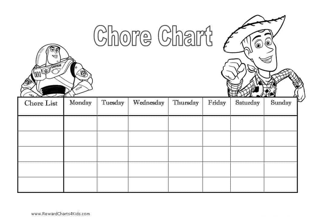 Toy Story Sticker Chart : Chore charts for kids