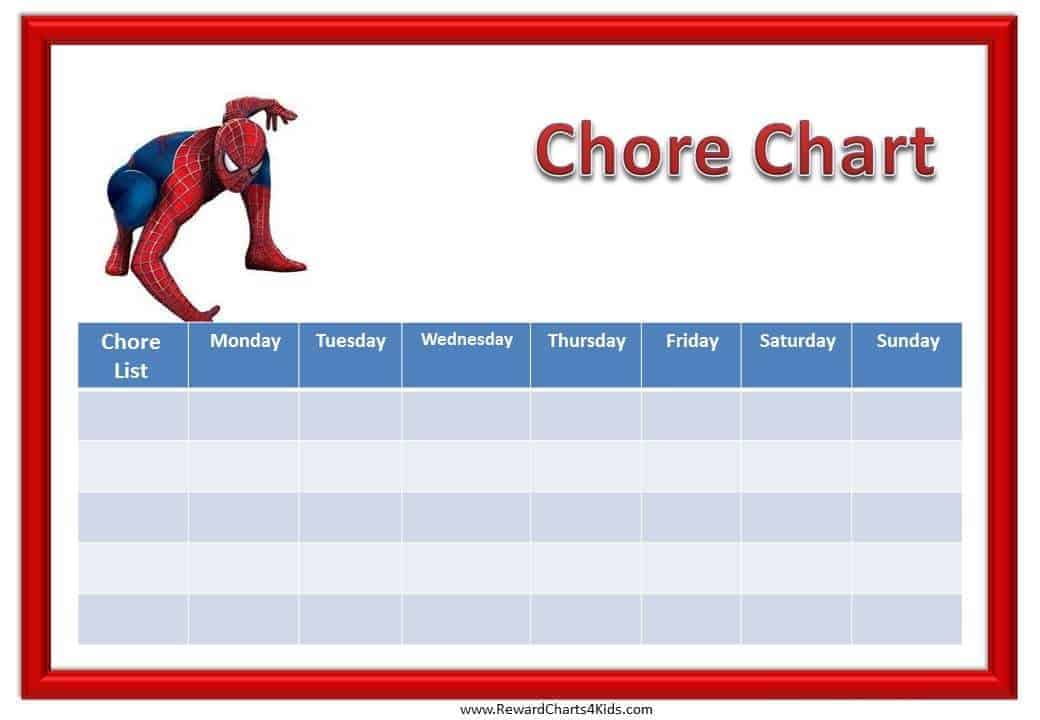 Printable Chore Charts – Chore List Template