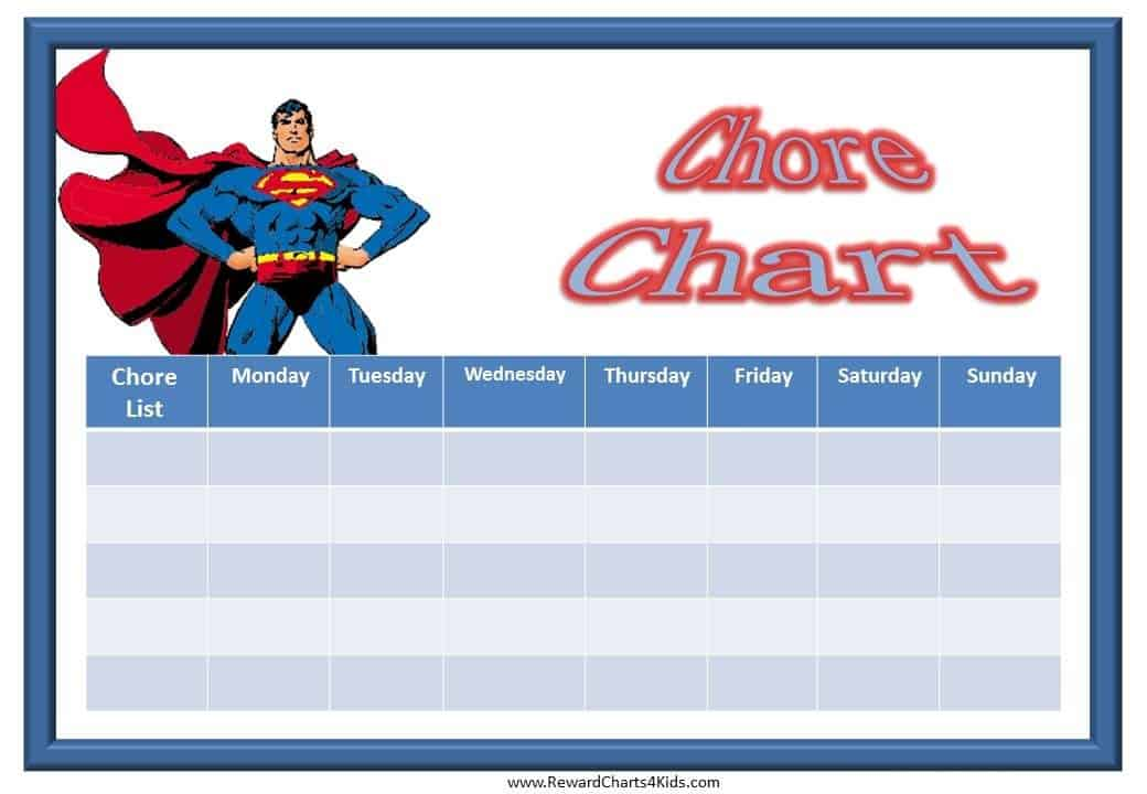 Printable Chore Charts – Incentive Chart Template