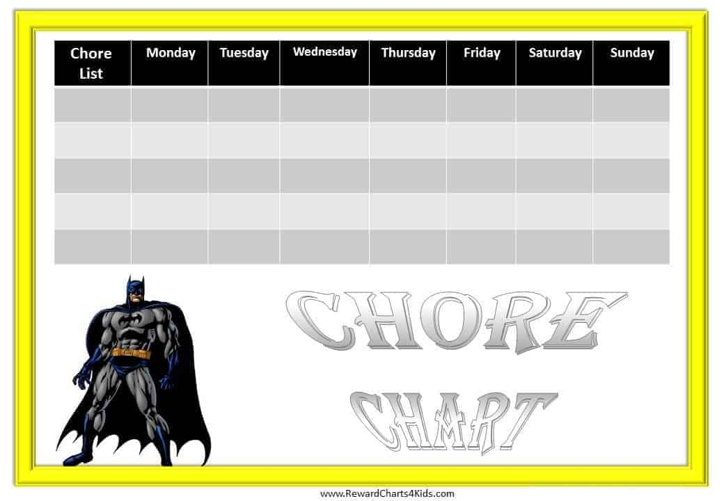 Pin Printable Family Chore Charts Template on Pinterest