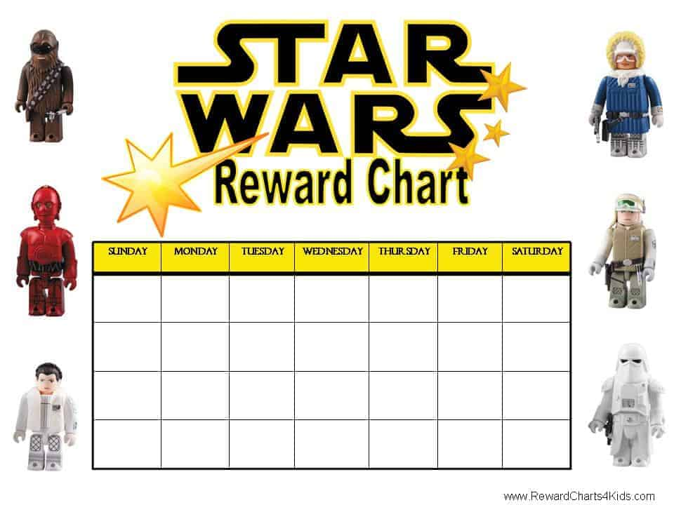 Reward Chart For Kids Template Weekly reward chart with star Good Job ...
