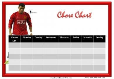 Chore Chart template for boys