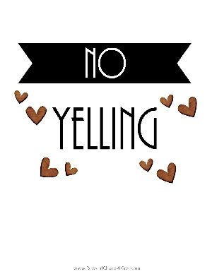 no yelling poster