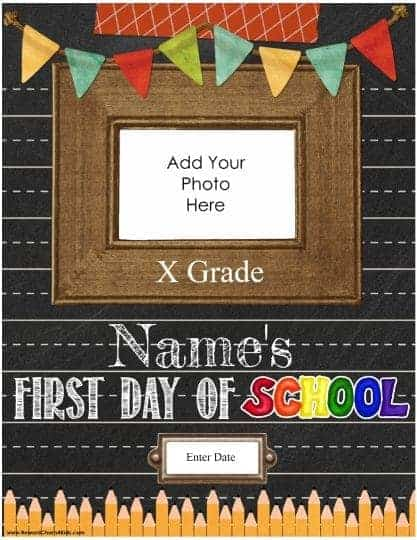 First day of school (all text can be customized so it can be used for any grade). You can also add the child's name, grade and the date.