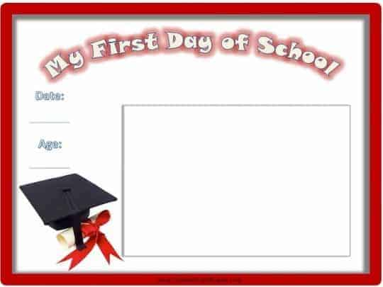 first day of school make a photo book
