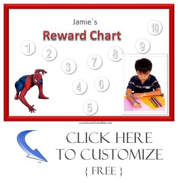 Spiderman sticker chart