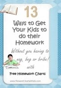how to get children to do their homework
