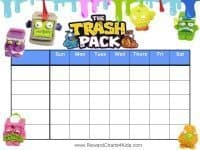 Trash Pack Reward Charts