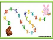 20 step sticker chart with two Easter rabbits