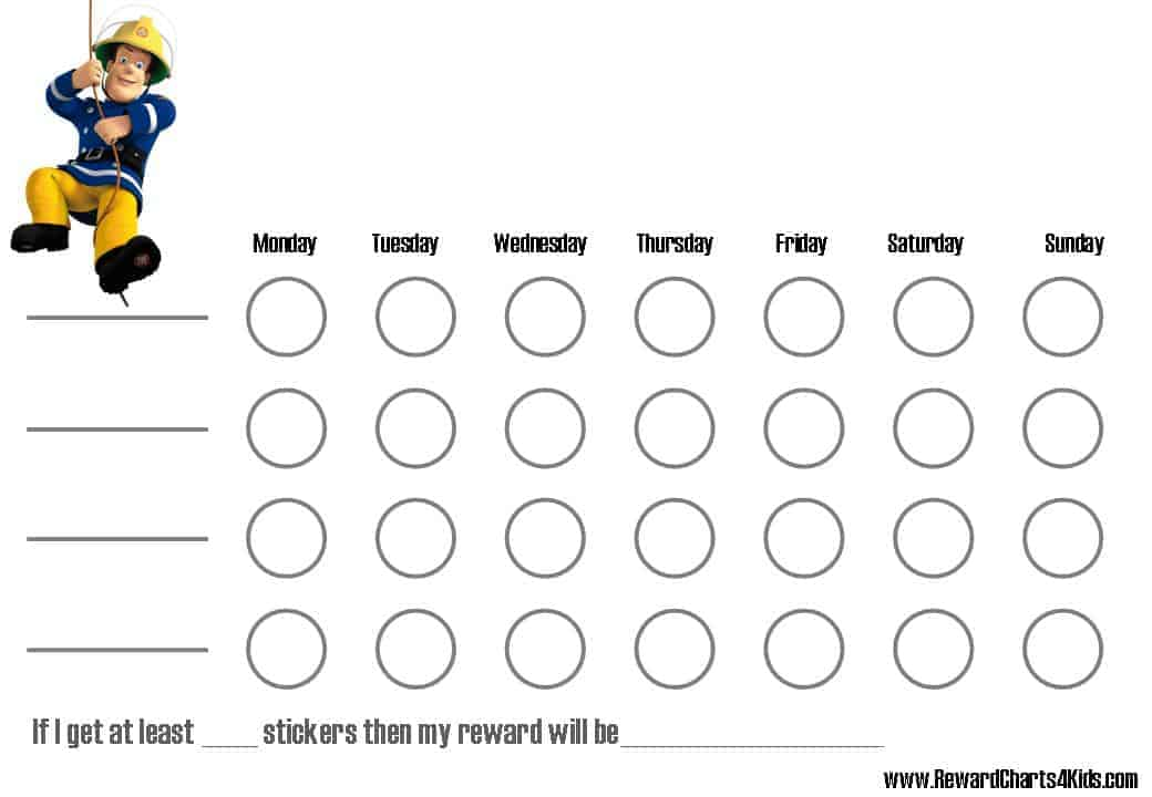 this is a weekly behavior chart chore chart or reward chart fill in ...