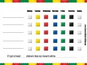 printable behavior chart with a lego border