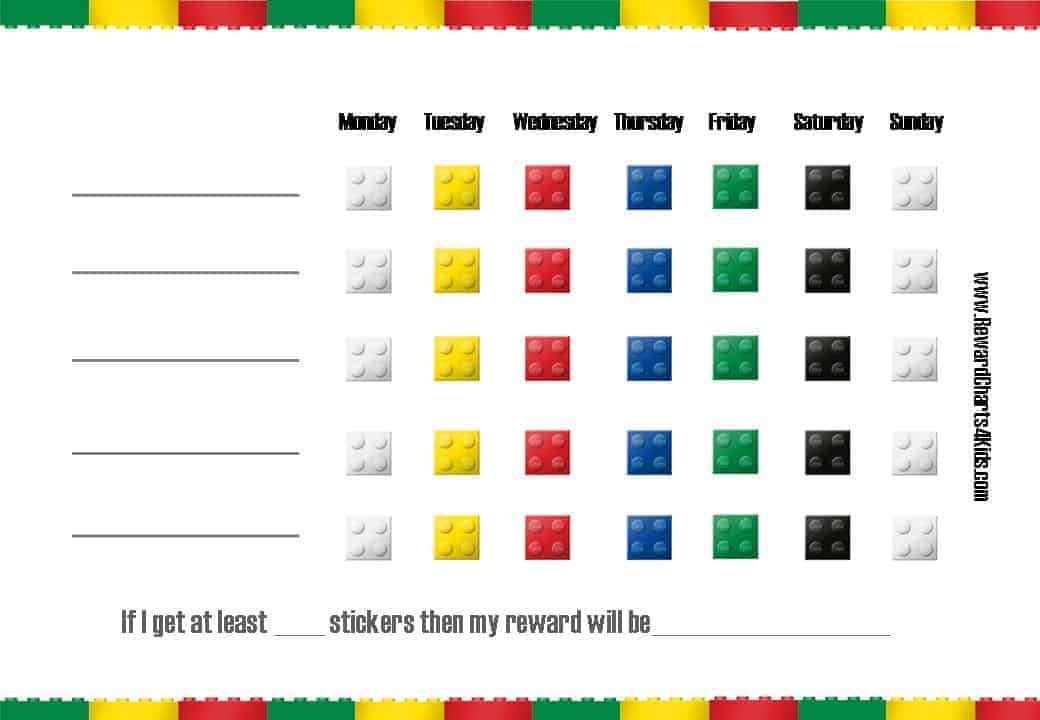 Lego Charts – Incentive Chart Template