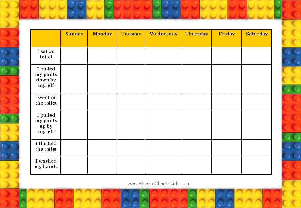 Lego Charts – Behaviour Chart Template