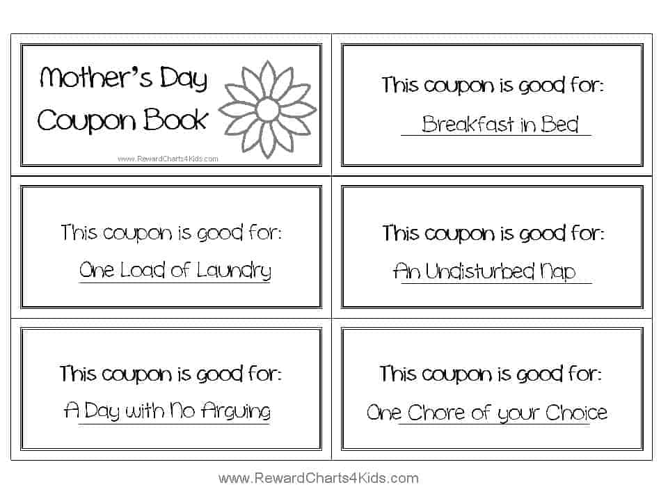 Free mother's day coupons print