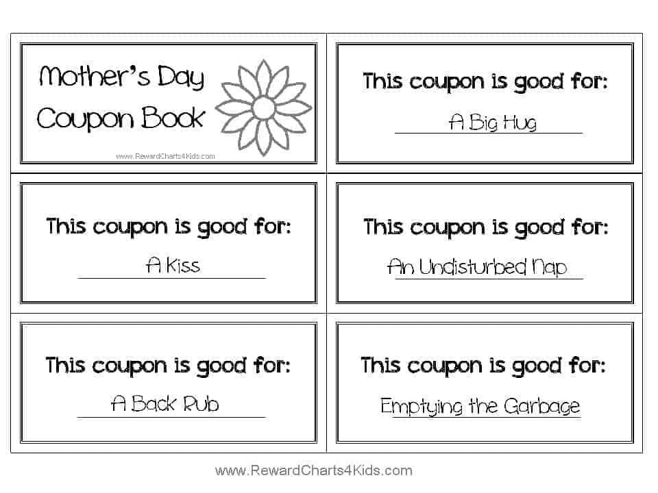 Mothers Day Coupons – Coupon Book Template