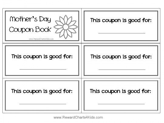 coupon booklet for mom