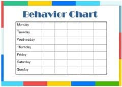 Free Printable Behavior Charts | Customize online